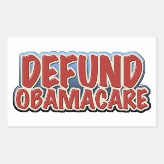 Defund Obamacare Rectangular Sticker