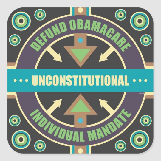 Defund Obamacare Square Sticker
