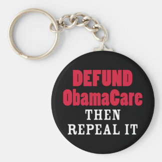 Defund ObamaCare Then Repeal It Keychain