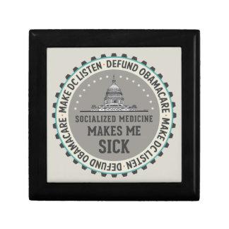 Defund Obamacare Trinket Boxes