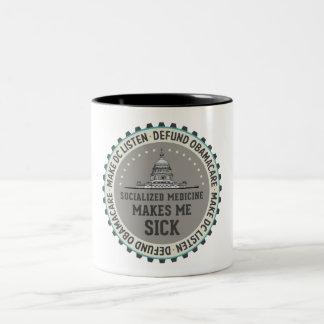 Defund Obamacare Two-Tone Coffee Mug