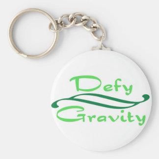 Defy Gravity Basic Round Button Keychain