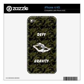 Defy Gravity Black Silk iPhone4/4S skin iPhone 4 Decals