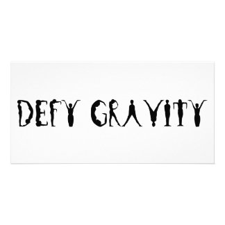 Defy Gravity Personalized Photo Card