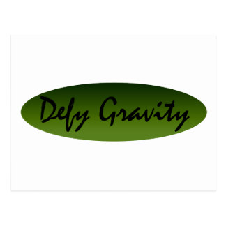 Defy Gravity Postcard