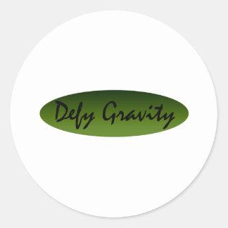 Defy Gravity Round Stickers