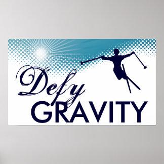 defy gravity skiing poster