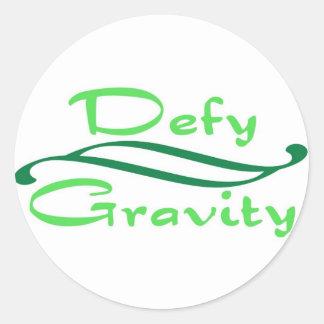 Defy Gravity Classic Round Sticker