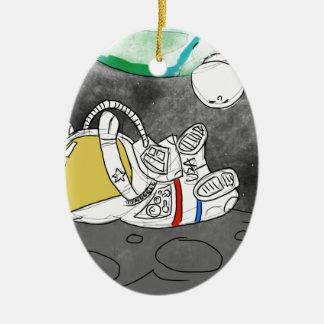 Defying Gravity Ceramic Ornament
