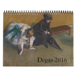Degas 2016 calendar