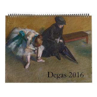 Degas 2016 Large Calendar