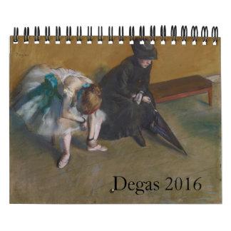Degas 2016 Small Calendar