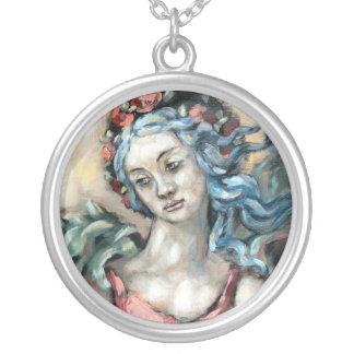 Degas Angel Silver Plated Necklace