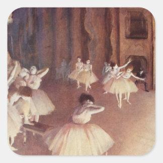 Degas Art Square Sticker