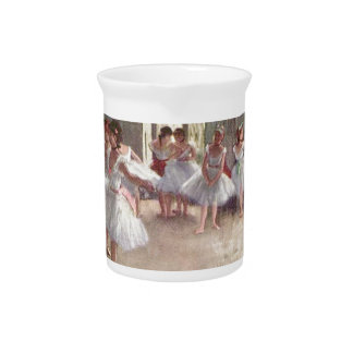 degas ballerina art drink pitcher