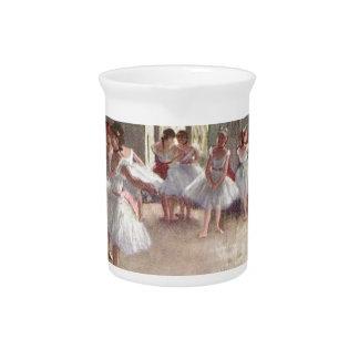 degas ballerina art drink pitcher