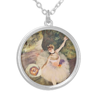 Degas Ballerina with a Bouquet of Flowers Necklace