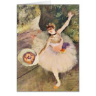 Degas Ballerina with Bouquet of Flowers Card