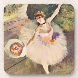 Degas Ballerina with Bouquet of Flowers Coasters