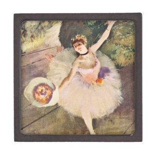 Degas Ballerina with Bouquet of Flowers Gift Box Premium Gift Boxes