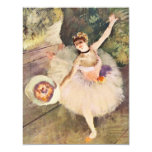 Degas Ballerina with Bouquet of Flowers Invitation