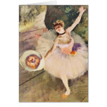Degas Ballerina with Bouquet of Flowers Note Card