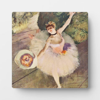 Degas Ballerina with Bouquet of Flowers Plaque