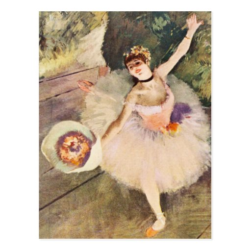 Degas Ballerina with Bouquet of Flowers Post Cards