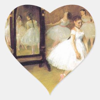 Degas Ballet Dancers Heart Sticker