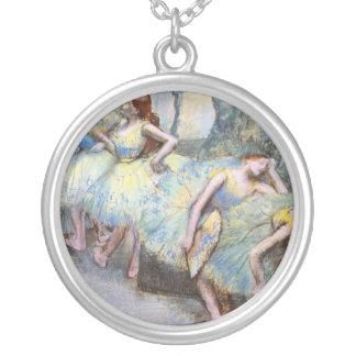 Degas Ballet Dancers Impressionist Silver Plated Necklace
