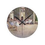 Degas Ballet Dancers Round Wallclock