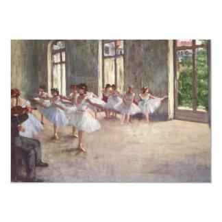 Degas' Ballet Rehearsal Card