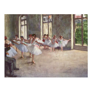 Degas' Ballet Rehearsal Postcard