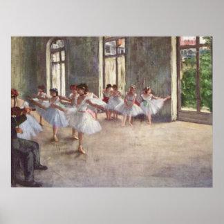 Degas' Ballet Rehearsal Poster