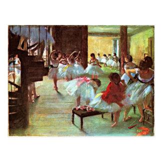 Degas -  Ballet School Postcard