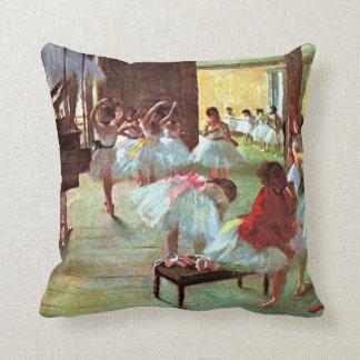 Degas - Ballet School Throw Pillow