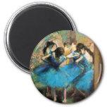 Degas Blue Dancers 2 Inch Round Magnet