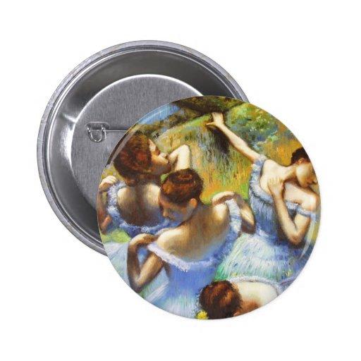 Degas Blue Dancers button