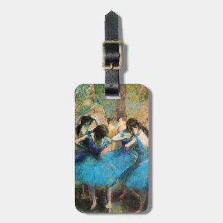 Degas Blue Dancers Luggage Tag