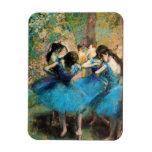 Degas Blue Dancers Magnet Rectangle Magnets