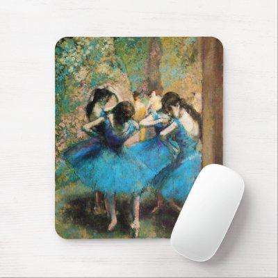 Degas Blue Dancers Mouse Pad