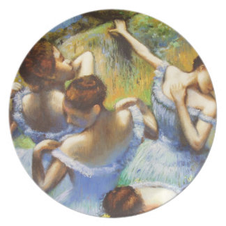 Degas Blue Dancers Plate