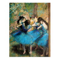 Degas Blue Dancers Postcard