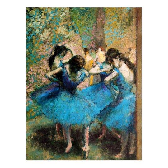 Degas Blue Dancers Postcard