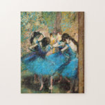"Degas Blue Dancers Puzzle<br><div class=""desc"">Degas Blue Dancers puzzle. Oil painting from 1880s. French painter Edgar Degas was one of the great impressionists of his generation. Degas' Ballet paintings are famous for their sense of grace, motion and subtle color. Blue Dancers is one of the most beloved Degas paintings and features pretty ballerinas huddled together...</div>"