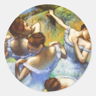 Degas Blue Dancers Stickers