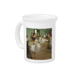 Degas Dance Class Ballet Dancers Beverage Pitcher
