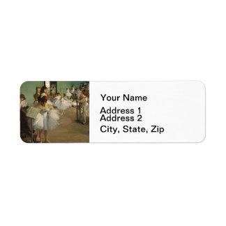 Degas Dance Class Ballet Dancers Label