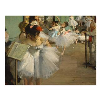 Degas Dance Class Ballet Dancers Postcard