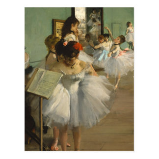 Degas Dance Class Ballet Dancers Postcards